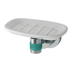 Kingston Brass - BA8215CDGL Green Eden 5-1/8 inch Soap Dish With Neoprene Sleeve, Chrome - The perfect way to give the finishing touches to your bathroom is by adding these matching bath accessories, all with matching Neoprene inserts, available in Polished Chrome and satin Nickel.