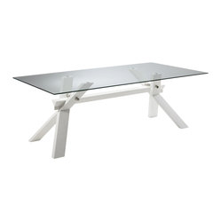 Broderick Dining Table, White