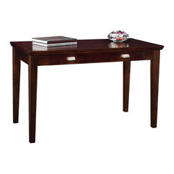 Leick Furniture - Leick Furniture Laptop-Writing Desk in a Chocolate Cherry Finish - Leick Furniture - Computer Desks - 81400 - The Leick Chocolate Cherry Laptop/Writing Desk is perfect for laptops or to hide away papers or a desktop keyboard, this delicately scaled desk offers abundant organization assistance in just a tiny space. The drop down front presents the keyboard at a comfortable work height while full extension drawer guides offer the full depth of the drawer as useable storage space. Solid wood construction with wood veneers offers exceptional durability while the hand applied Multi - Step chocolate cherry finish lets the natural beauty of the wood to shine through. Add the Leick Chocolate Cherry End Table/Printer Stand for a complete office solution.