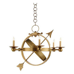 Armillary Sphere Chandelier - I love the classic military vibe of this orbit chandelier.