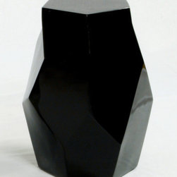 """Oggetti - Origami End Table - Features: -End table.-Intersecting planes are reminders of the craft of Origami.-Distressed: No.-Collection: Oggetti Furniture.-Powder Coated Finish: No.-Gloss Finish: Yes.-Base Material: Resin.-Solid Wood Construction: No.-Number of Items Included: 1.-Nesting Tables: No.-Non-Toxic: No.-UV Resistant: No.-Scratch Resistant: No.-Stain Resistant: No.-Lift Top: No.-Storage Under Table Top: No.-Drop Leaf Top: No.-Magazine Rack: No.-Built In Clock: No.-Drawers Included: No.-Exterior Shelves: No.-Cabinets Included: No.-Glass Component: No.-Legs Included: No.-Casters: No.-Lighted: No.-Stackable: No.-Reclaimed Wood: No.-Adjustable Height: No.-Outdoor Use: No.-Swatch Available: No.-Commercial Use: Yes.-Recycled Content: No.-Eco-Friendly: No.-Product Care: Wipe clean with a damp cloth..-Built In Outlets: No.-Cable Management: No.-Powered: No.Specifications: -ISTA 3A Certified: No.-ISTA 1A Certified: No.-General Conformity Certificate: No.-Green Guard Certified: No.-ISO 9000 Certified: No.-ISO 14000 Certified: No.-UL Listed: No.Dimensions: -Overall Height - Top to Bottom: 22.5"""".-Overall Width - Side to Side: 13"""".-Overall Depth - Front to Back: 14"""".Assembly: -Assembly Required: No.-Additional Parts Required : No.Warranty: -Product Warranty: 1 Year."""