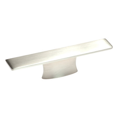 Hickory Hardware - Metro Mod Satin Nickel Cabinet Pull - Often characterized with clean, sleek lines. Marked with solid colors, predominantly muted neutrals or bold bunches of color. An emphasis on basic shapes and forms.