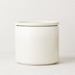 """Anthropologie - Airtight Coffee Canister - Ceramic, rubberHand wash65 oz6""""H, 6"""" diameterImported"""