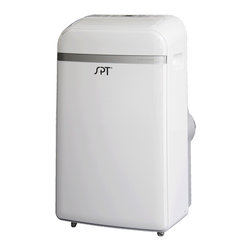 Sunpentown - 14,000 BTU Portable Air Conditioner - Stay cool and comfortable this summer with this new 14,000btu portable AC unit. Features independent Dehumidifying function. Sleek design with remote and LCD panel.