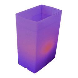 FLIC Luminaries, LLC - Purple FLIC Luminaries, Set of 48, Candles & Holders - 48 Purple FLIC Luminaries with Candles and Holders.