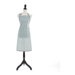 Saro - Dotted Apron, Blue-Grey - Dotted Apron, Blue-Grey