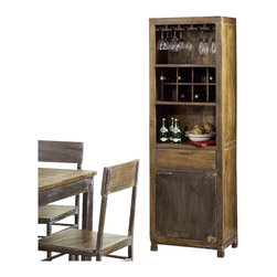 Modus Furniture - Modus Farmhouse Wine Rack in Antique Walnut - Modus Furniture - Wine Racks ...