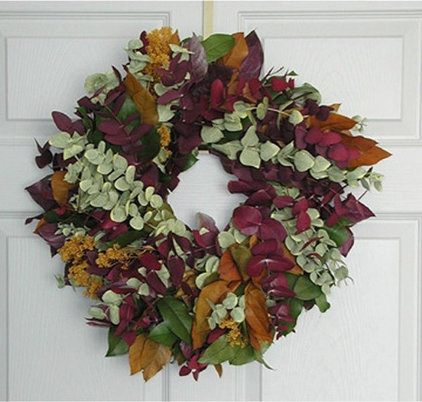 traditional holiday outdoor decorations by Wreaths Galore