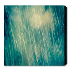 AlignBetween Art | Design - Drops II - Nature Canvas Art Print, Abstract, Small - This photographic art on canvas reveals falling water droplets diffused by an oak tree, illuminated from behind by sunlight. Shot on the beautiful Peace River in Florida by Beverly of AlignBetween.