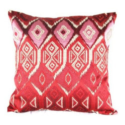 Design Accents Ikat Embroidered Pillow - 20L x 20W in. - Whether your style is traditional or contemporary, the Design Accents Ikat Embroidered Pillow - 20L x 20W in. is sure to look perfect in your home. Made of soft, durable cotton, this modern pillow features hand-embroidered ikat accents. It's available in various colors so you can get the look to match your style perfectly.