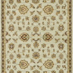 "Loloi Rugs - Loloi Rugs Maple Collection - Sage, 3'-6"" x 5'-6"" - Transform your home into a manor steeped in elegance and tradition with the majestic Maple Collection. These timeless Persian designs carry the rich heritage of centuries of carpet making in each arabesque, stylized flower and intricate border. Maple Collection rugs are hand-tufted in India of 100-percent wool so they are eco-friendly and mindfully crafted with sustainable materials. With colors as rich as these, you will feel like nobility every time you walk into your home."
