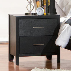 Coaster - Grove Night Stand - The timeless design and unique wood grain of the Grove bedroom collection makes this set a simple choice. Made from select hardwoods and Okume veneers.