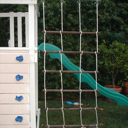 Swing Set Additions - Cargo Net - 5 ft deck cargo net with beams