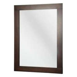 Foremost - Foremost Orion 28 in. x 38 in. Wall Mirror, Dark Walnut (FMORNM3828) - Foremost FMORNM3828 Orion 28 in. x 38 in. Wall Mirror, Dark Walnut