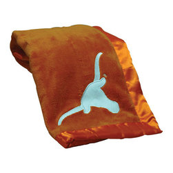 Collegiate Delight - University of Texas at Austin Blanket - Let your school spirit show with these officially licensed collegiate baby blankets. These embroidered coral fleece blankets with matching satin trim are super soft to the touch and perfect for your future graduates and athletes.
