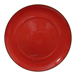 Waechtersbach - Duo Set of 4 Dinner Plates Duo Chili - Porcelain dinnerware is treated to a lustrous ceramic glaze for a look that's both elegant and dishwasher safe. The fiery chili-pepper color is great by itself, or mix with other patterns and hues for a casual, collected feel.
