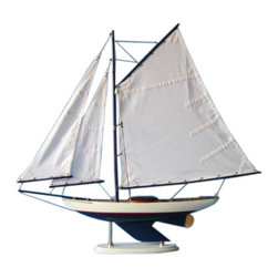 "Handcrafted Model Ships - Laguna Lake Sloop 26"" - Nautical Decoration - Not a Model Ship Kit"
