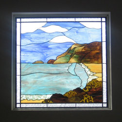 Private home in Pacifica - Right hand window of shore scene for private home in Pacifica