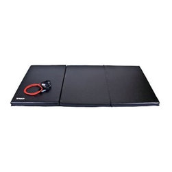 TKO Folding Exercise Mat - 4 x 8 ft. - Large comfortable exercise surfaceHigh-density polyurethane foam padding is 2-in. thick for maximum comfortHeavy-gauge 14-oz. vinyl cover reinforced with feltWipes clean easily with damp clothHeavy nylon stitching with inverted seamsFolds for storage; carry handles for easy portabilityMat Dimensions: 96L x 48W x 2H inchesManufacturer's warranty included - see complete details in the Product Guarantee area.About TKOTKO's mission is to manufacture and design innovative fitness and boxing equipment to promote wellness and a healthy lifestyle. Founded in 1996 TKO has become a leading provider of products for elite boxing events including the National Golden Gloves competition and the International Female Boxing Association. TKO is committed to bringing you fitness products that will provide you years of value and enjoyment.