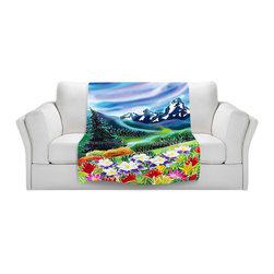 DiaNoche Designs - Fleece Throw Blanket by Harriet Peck Taylor - High Country - Original Artwork printed to an ultra soft fleece Blanket for a unique look and feel of your living room couch or bedroom space.  DiaNoche Designs uses images from artists all over the world to create Illuminated art, Canvas Art, Sheets, Pillows, Duvets, Blankets and many other items that you can print to.  Every purchase supports an artist!