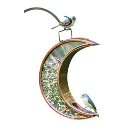 G.D. - Good Directions Crescent Moon Bird Feeder - Venetian Bronze - Our unique Venetian Bronze finished steel Bird Feeders are designed to lure birds in for a snack and help bird watchers' favorite activity last all day long! Designed to show birds you love to feed them, from the bottom of your heart.