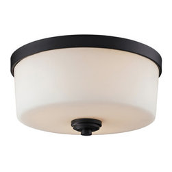 Z-Lite - Z-Lite 220F3 Arlington 3 Light Flush Mount Ceiling Fixture - Z-Lite 220F3 Arlington 3 Light Flush Mount Ceiling FixtureA fixture from Z-Lite's Arlington Collection, featuring a iron frame, glass shade and modern lines highlight this three light flush mount from the Arlington Collection. With a height of 6.38 inches and a luxurious oil rubbed bronze finish, this flush mount adds a contemporary feel to any room.Z-Lite 220F3 Features: