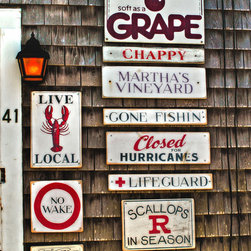 Seaside Signs - Martha's Vineyard (Wampanoag: Noepe) is an island (including the smaller Chappaquiddick Island) located south of Cape Cod in Massachusetts, known for being an affluent summer colony.