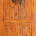"""Single Door, Exterior, Knotty Alder 2 Panel, Speakeasy, Clavos - SKU#SW-83_1BrandAAWDoor TypeExteriorManufacturer CollectionWestern-Santa Fe Entry DoorsDoor ModelDoor MaterialWoodWoodgrainKnotty AlderVeneerPrice880Door Size Options30"""" x 80"""" (2'-6"""" x 6'-8"""")  $032"""" x 80"""" (2'-8"""" x 6'-8"""")  $036"""" x 80"""" (3'-0"""" x 6'-8"""")  +$1042"""" x 80"""" (3'-6"""" x 6'-8"""")  +$11036"""" x 84"""" (3'-0"""" x 7'-0"""")  +$9030"""" x 96"""" (2'-6"""" x 8'-0"""")  +$26032"""" x 96"""" (2'-8"""" x 8'-0"""")  +$26036"""" x 96"""" (3'-0"""" x 8'-0"""")  +$27042"""" x 96"""" (3'-6"""" x 8'-0"""")  +$470Core TypeSolidDoor StyleRusticDoor Lite StyleDoor Panel Style2 Panel , Arch Panel , V-GroovedHome Style MatchingSouthwest , Log , Pueblo , WesternDoor ConstructionTrue Stile and RailPrehanging OptionsPrehung , SlabPrehung ConfigurationSingle DoorDoor Thickness (Inches)1.75Glass Thickness (Inches)Glass TypeGlass CamingGlass FeaturesGlass StyleGlass TextureGlass ObscurityDoor FeaturesDoor ApprovalsDoor FinishesDoor AccessoriesSpeakeasy , ClavosWeight (lbs)340Crating Size25"""" (w)x 108"""" (l)x 52"""" (h)Lead TimeSlab Doors: 7 daysPrehung:14 daysPrefinished, PreHung:21 daysWarranty1 Year Limited Manufacturer WarrantyHere you can download warranty PDF document."""