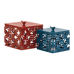 Simply Exquisite Metal Box, Set of 2 - Description: