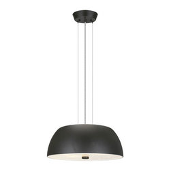 Eglo Lighting - Ryan 90369A - Pendant Lamp | Eglo - Eglo Lighting Ryan�90369A�Pendant Lamp features�black glass base with painted aluminum shade. Manufacturer:�Eglo LightingSize:�16 in. diameter x 47.25 in. max height (field cuttable cord) Light Source:�2 x 23 watt CFL lamp - included Certifications: ETL Location: Dry
