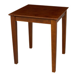 International Concepts - International Concepts End Table in Cottage Oak - International Concepts - End Tables - OT489TE -This contemporary table will match any living room decor. Other coordinating occasional tables also available.
