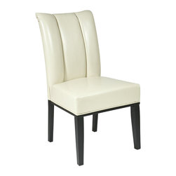 Office Star - Office Star Metro Pleated Back Dining Parsons Chair in Cream - Office Star - Dining Chairs - MET89CM