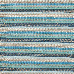 "Jaipurrugs - Cotton/Jute Blue/Ivory Croydon Rectangle Rug Border Color Sea Glass 24"" x 40"" - Naturals Solid Pattern Cotton/ Jute Blue/Ivory Croydon Rectangle Area Rug Border Color Sea Glass 24"" x 40""."