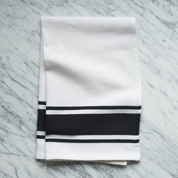 Square Dye Kitchen Towel, Iron - I love these black and white kitchen towels. They are not only useful, but so cute too.
