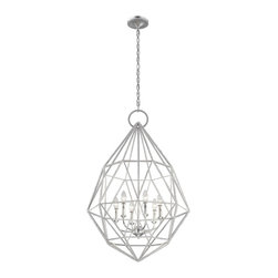 Murray Feiss Lighting - Murray Feiss Lighting-F2942/6-Marquise - Six Light Chandelier - Silver Finish