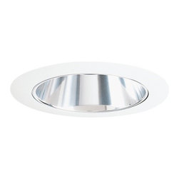 Juno Lighting Group - Deep Cone for 6-Inch Recessed Housing - 257C-WH - This recessed trim features a deep cone, clear Alzak� finish and white trim ring. It measures 7-5/8 inches wide with a 5-5/8-inch aperture. Alzak� is an anodized, hand-polished aluminum reflector with superior glare reduction. Dry location rated.