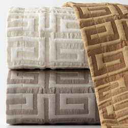 """Sweet Dreams - King Meander Coverlet 106"""" x 96"""" - AMARETTO (BRONZE) (KING) - Sweet DreamsKing Meander Coverlet 106"""" x 96""""Designer About Sweet Dreams:For over 25 years this family-owned company has been a leader in opulent luxury bedding and decorative pillows. Recognized as an innovator in heirloom-quality home textiles Sweet Dreams creates collections of true elegance and aesthetic beauty using made-in-USA craftsmanship and choice fabrics from around the world."""