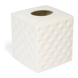 Kassatex - Kassatex Savoy Collection Tissue Holder - On hold: This sophisticated porcelain tissue holder will keep your box steady while you pull out tissue after tissue, and be on hand for the next chapter of smudges, spills and sneezes to come your way.
