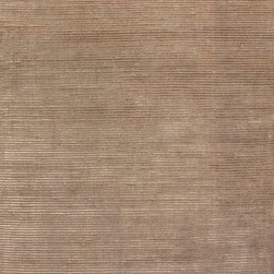 Jaipur Rugs - Solids/ Handloom Solid Pattern Wool/ Art Silk Taupe/Tan Area Rug (5 x 8) - The Basis rug collection is hand loomed in a textural loop and cut ribbed construction. Made from wool and art silk, it has a casual modern feel with a soft hand and lustrous finish. It is offered in a full range of colors.