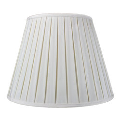 Home Concept - Empire Box Pleat Egg Shell Deluxe lamp shade 11x18x13.5 - Celebrate Your Home - Home Concept invites you to welcome your guests with our array of lampshade styles that will instantly upgrade your space