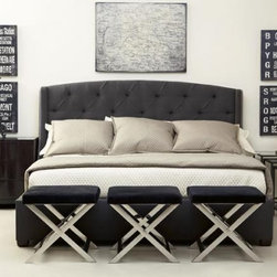 Tufted Wing Bed - King- W 88 | L 87 | H 54