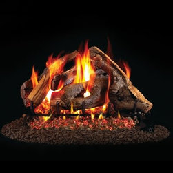Real Fyre Woodstack Vented Gas Log Set - The beautiful tangle of the Real Fyre Woodstack Vented Gas Log Set brings a unique degree of realism and naturalism to your indoor gas fireplace. This hand-painted refractory ceramic log set is modeled from real wood samples, with realism, texture, and nuance straight from nature. They burn efficiently while protecting natural resources and reducing pollution, providing real radiant heat for your home. Each is supported by steel rods in the center, and artfully placed about a steel burner and powder-coated grate. Choose 18 or 24 inches to fit your standard direct vent fireplace Choose propane or natural gas power source Silica sand and platinum embers included with every model Optional pilot kit and remote control Manufacturer's lifetime warranty included Heating Output Propane 18-inch: 45,000 BTU Propane 24-inch: 65,000 BTU Natural gas 18-inch: 70,000 BTU Natural gas 24-inch: 90,000 BTU Note: It is recommended that you use a professional installer to ensure the safety of the exhaust system. A licensed contractor should be contacted for installation of all products involving gas lines. About Real FyreReal Fyre understands more about the amazing things that happen when flame and good food meet. For the last 70 years, they've set out to create the singularly best way to cook food outdoors, using the highest-quality materials, innovative design, and an absolutely relentless pursuit of perfection. With a complete line of luxury-grade grills, burners, accessories, and built-in grill island components, Real Fyre is ready to turn your home into the world's best outdoor kitchen.