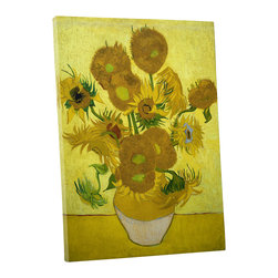 PingoWorld - Vincent van Gogh - Another Vase of Sunflowers Gallery Wrapped Canvas, 30x20x1.25 - Another Vase Of Sunflowers by Vincent Van Gogh.