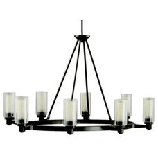 Chandeliers Circolo 8-Light Oval Chandelier by Kichler