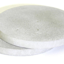 """CFAB STUDIOS - Refined Concrete Coaster Water Absorbing Stone MA-RE-CON FOREVER, 3.5"""" - Introducing the New MA-RE-CON FOREVER EDITION COASTERS. They have been MAstered, RE-engineered, in CONcrete to provide clients a highly REfined concrete experience without the ruggedness which concrete typically portrays."""