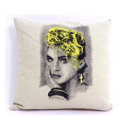 Retro Madonna Decorative Photo Pillow