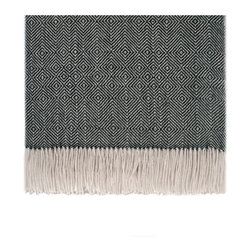 """KCK0035 - Optical Throw ivory/black - Woven from the softest fibers on earth, these baby alpaca throws are readily available.  70"""" x 50"""".  Perfect to snuggle up in."""