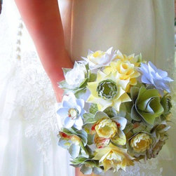 Handemade Paper Flowers - Handcrafted rustic wedding floral or house decor flowers.