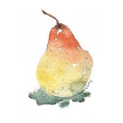 Pear, Original, Painting - A ripe pear