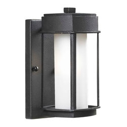 Kenroy Home - Kenroy 92001CBRZ Sentinel 1 Lt Sm Wall Lantern - Crisp and Asian-inspired, this family of lanterns makes a great choice for lovers of modern design. Finished in Copper Bronze, with Opal White glass, Sentinel offers an inviting gateway to a contemporary home.
